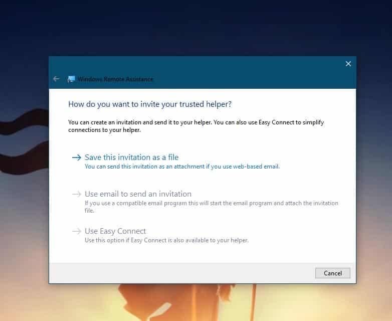 MSRA Windows Remote Assistance screen 3