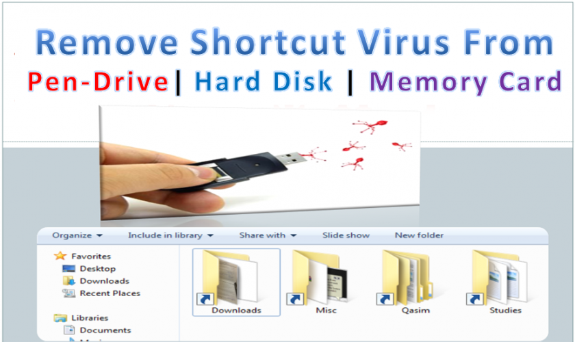 How to remove virus from pendrives
