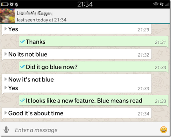 Whatsapp Blue checkmark