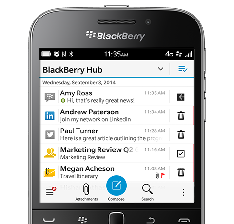 Features of BlackBerry Classic 6