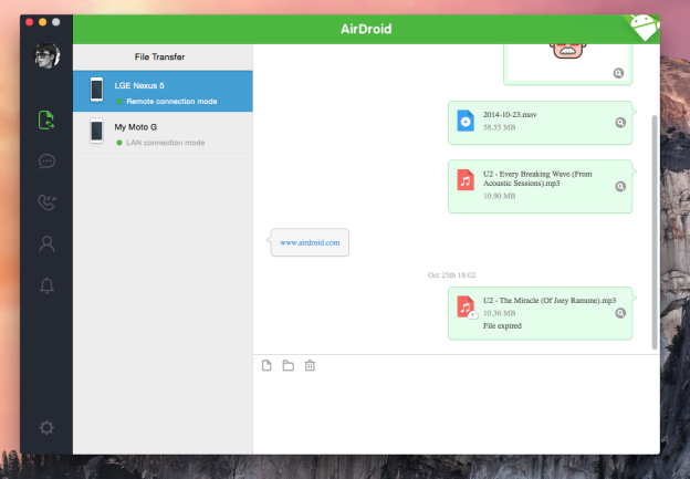AirDroid Screenshot on MAC