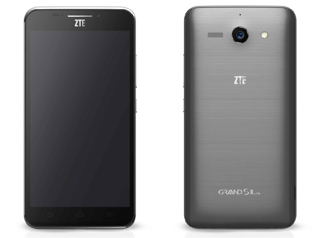 ZTE Grand S II front and back look