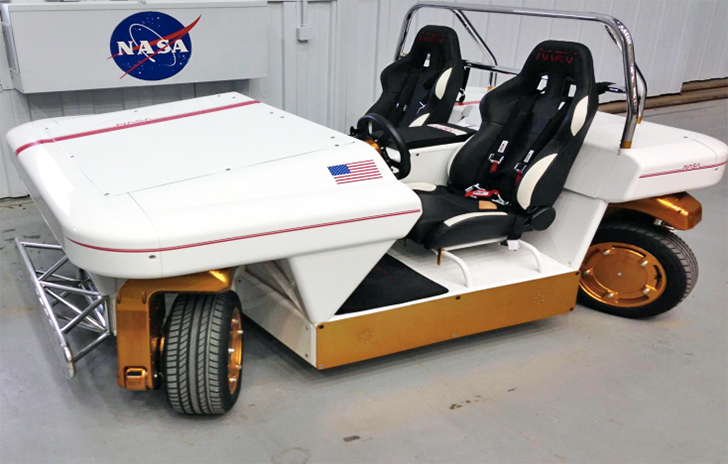 NASA's New Car can drive Sideways