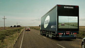 samsung video display on truck