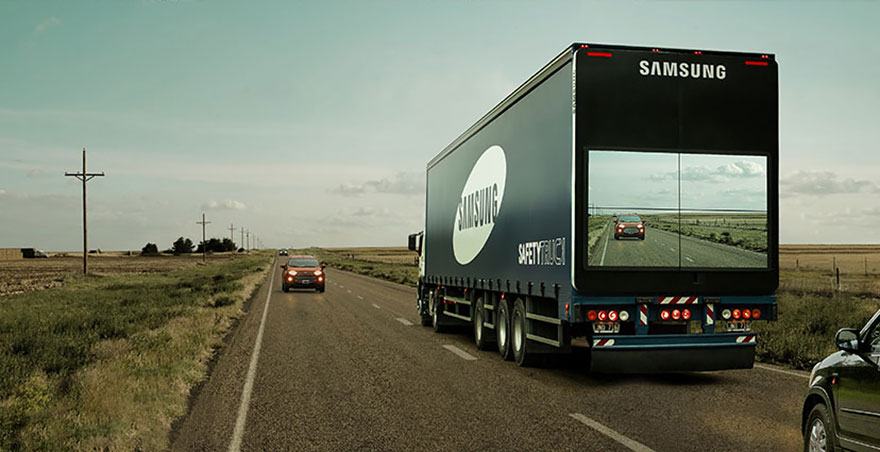 samsung video display on truck
