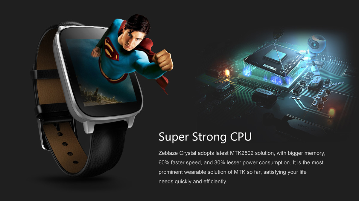 Zeblaze Crystal CPU