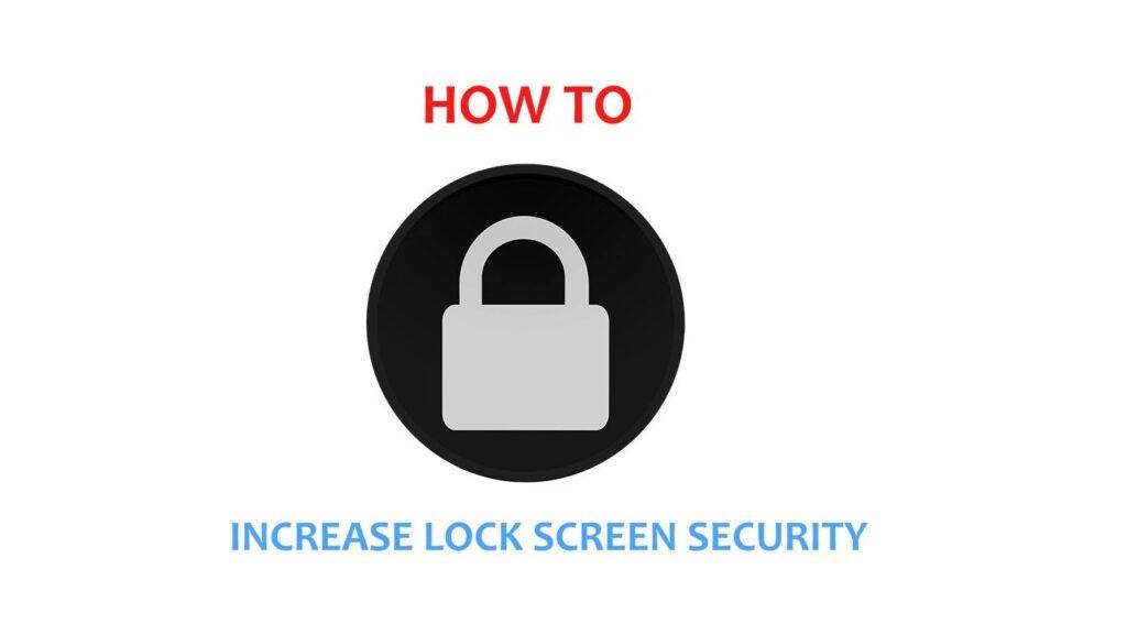 lock screen security_