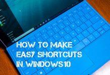 Shortcuts in Windows 10