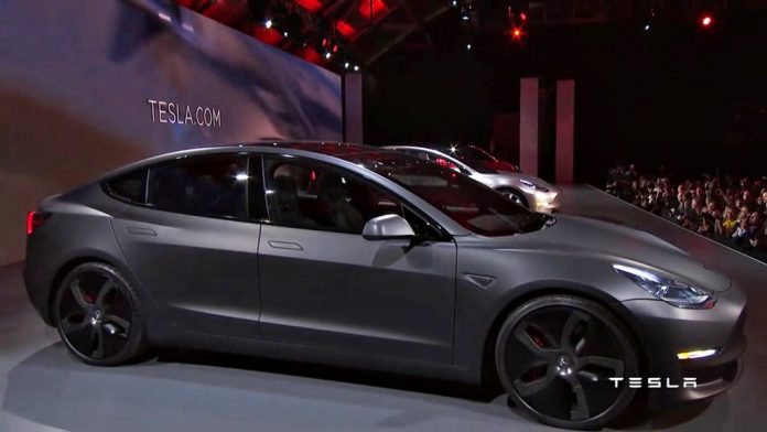 TESLA Electric car model 3