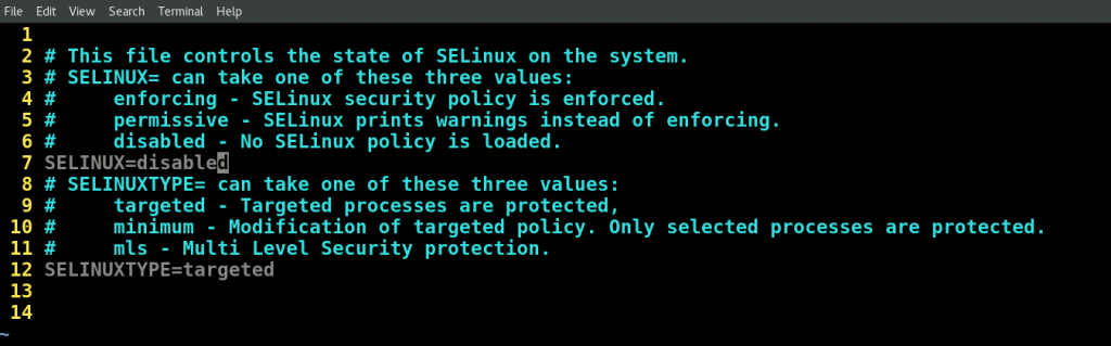Selinux disabled