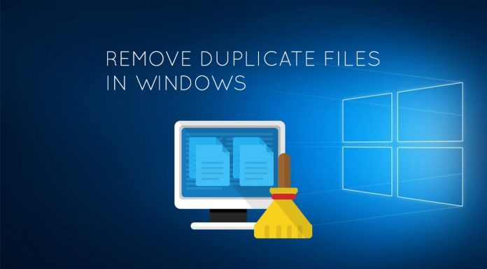 Remove duplicate files and folders