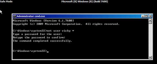 Windows password reset By Command Prompt 2