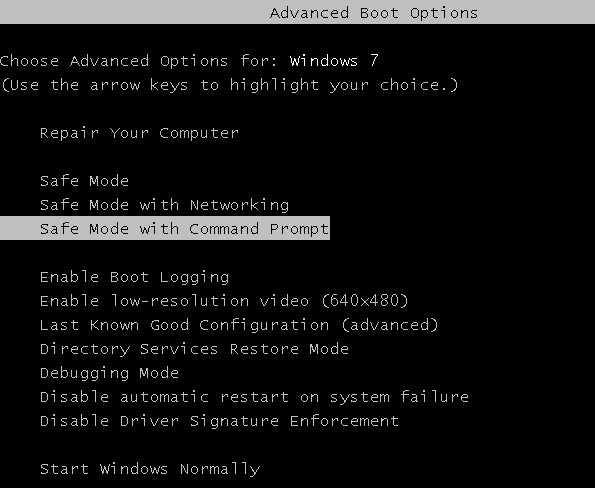 Windows password reset By Command Prompt