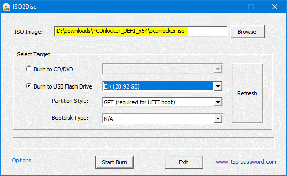 Windows password reset By recovery tool 2