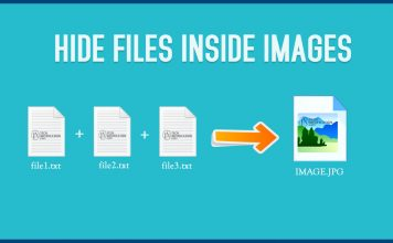 hide your files inside images