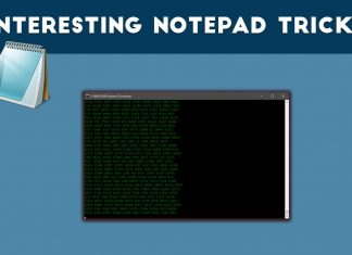 Interesting Notepad Tricks