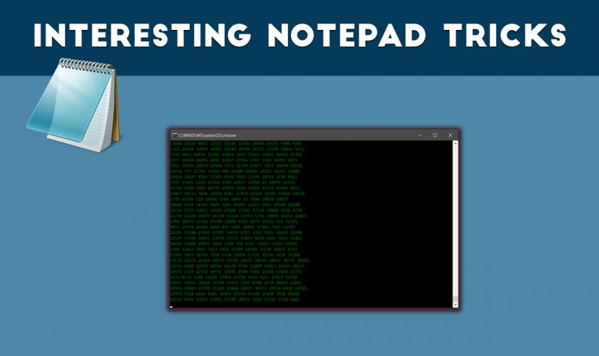 Interesting Notepad Tricks