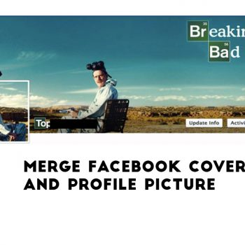 Merge facebook cover and profile picture