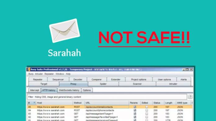 Sarahah app not safe