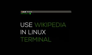 Use wikipedia in linux terminal