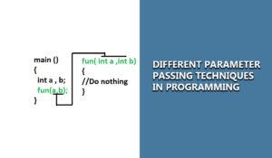 parameter passing techniques