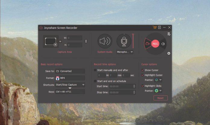 Joyoshare Screen Recorder Software Settings
