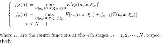 Expected Value Dynamic Programming