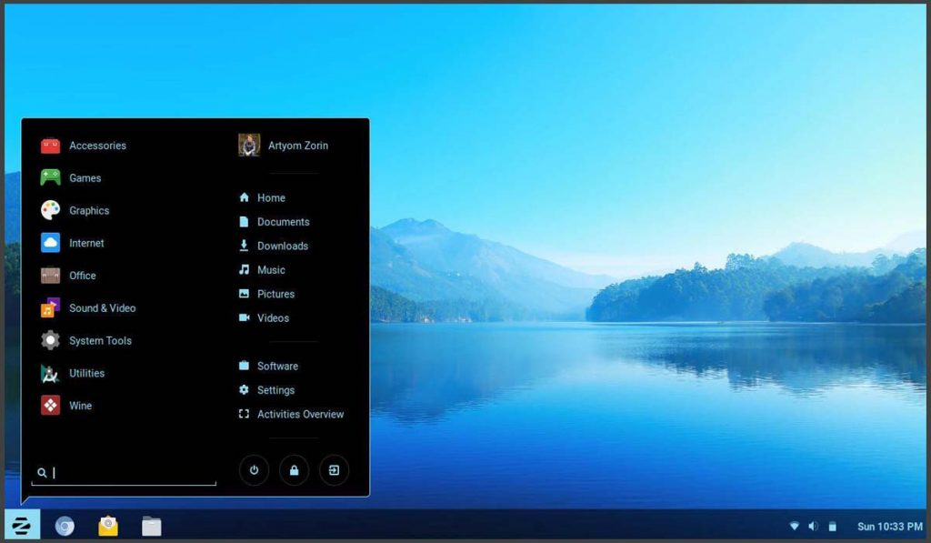 zorin os -best linux distributions for beginners