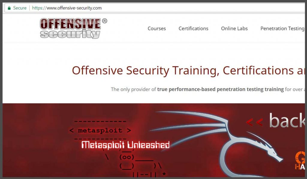 Offensive Security - Best Website to learn ethical hacking