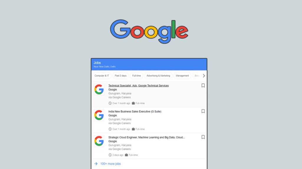 google search job find