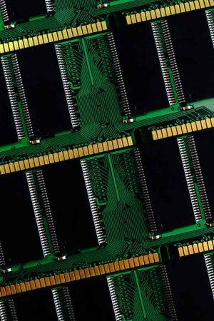 Stick of computer random access memory. Ram