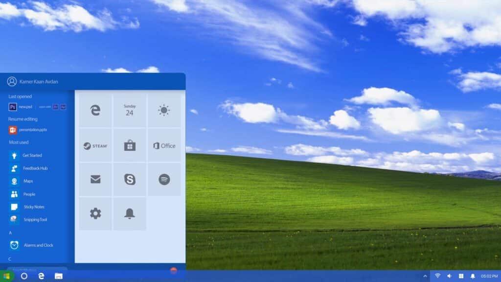 Windows XP 2018 Edition concept