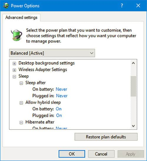 power management modes in windows