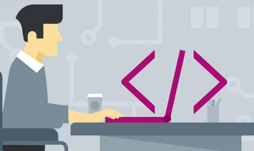 programming, developing, software developer or programmer