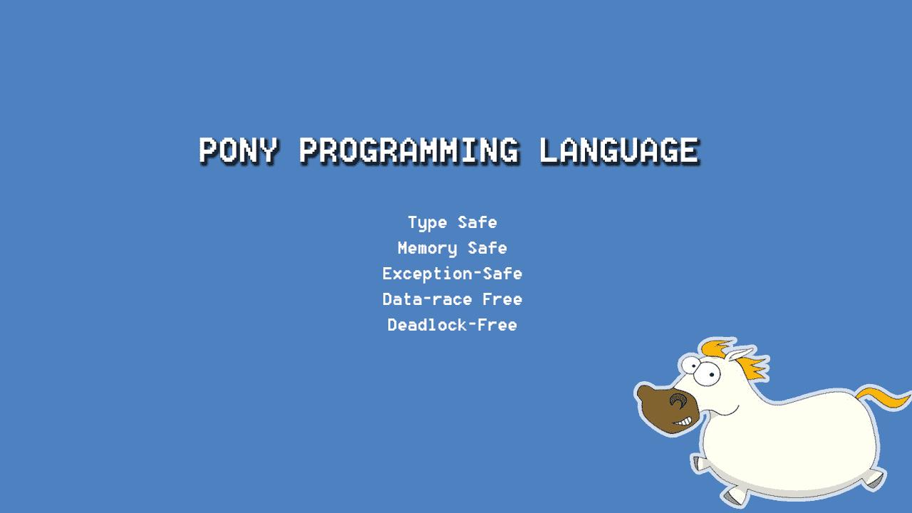 Pony - A new high-performance programming language