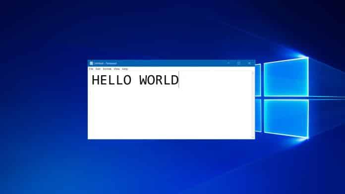 Windows 10 Notepad update Microsoft