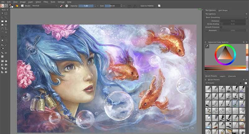 Krita - Free and Open Source software for Graphic designing