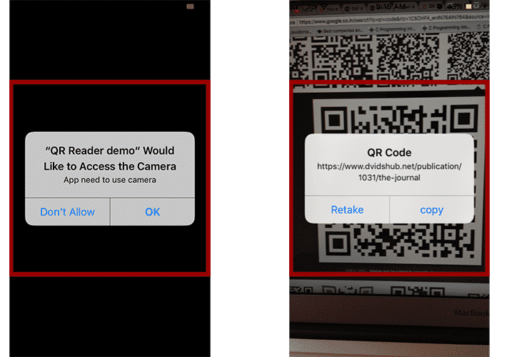 Create a QR code scanner using Swift Programming and Xcode
