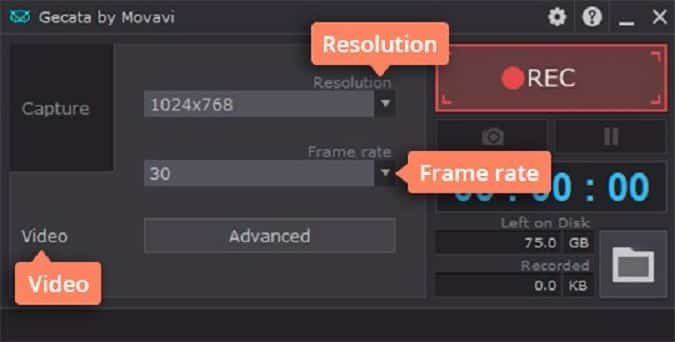 Increase the resolution and frame rate of the recording