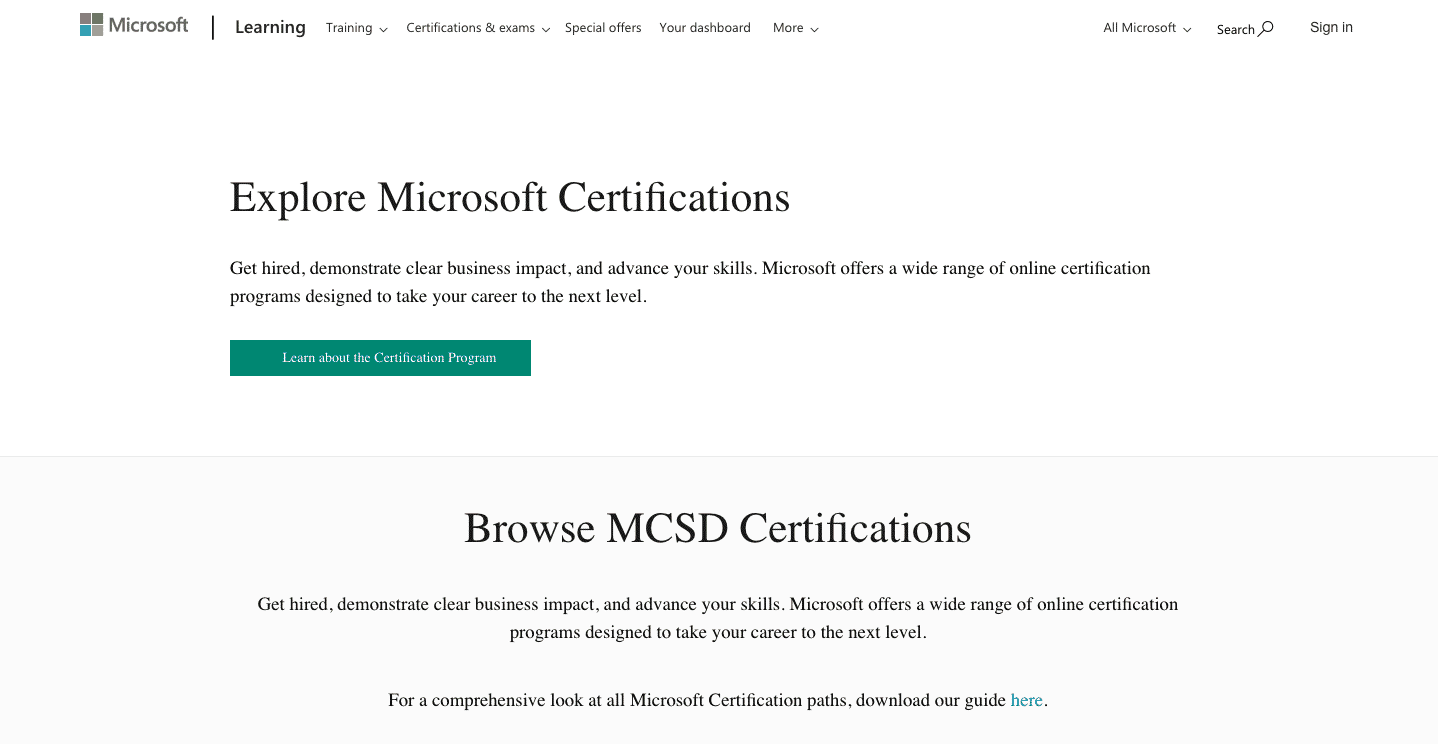 Microsoft Certification Solution Developer Choice Image Creative