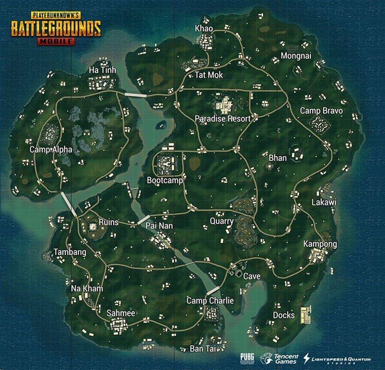 sanhok map on pubg mobile