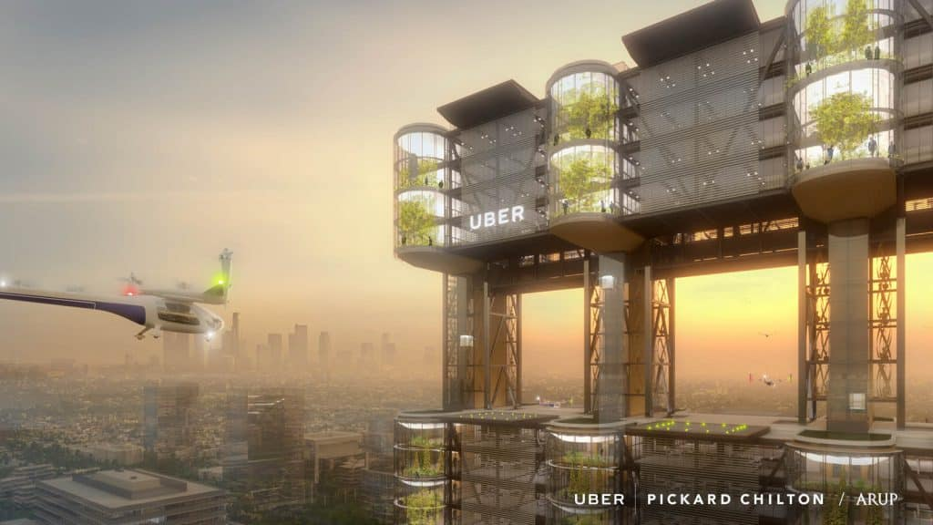 uber air taxi station