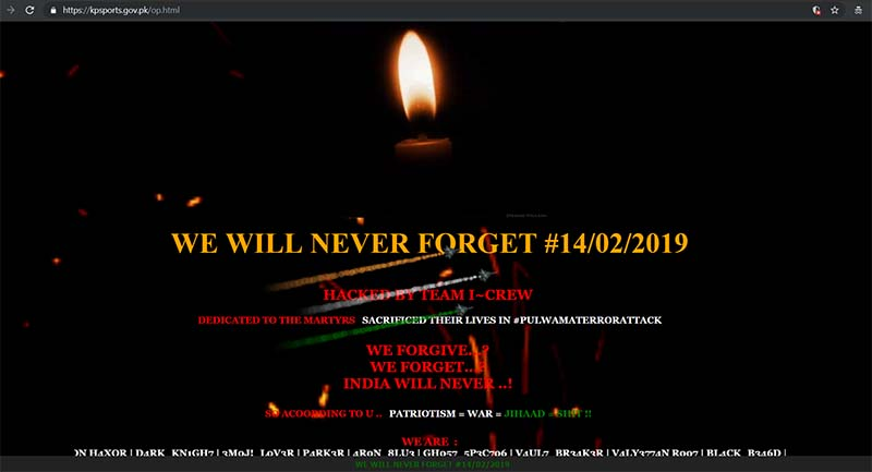 pakistan website hacked