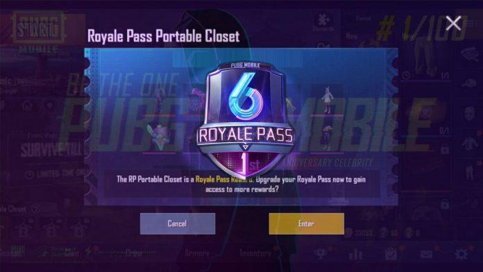 PUBG mobile season 6 royale pass