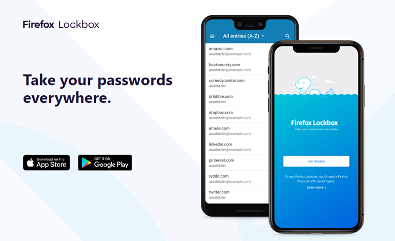firefox lockbox password manager