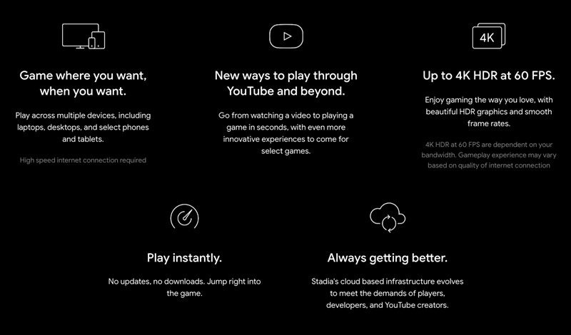 google stadia features