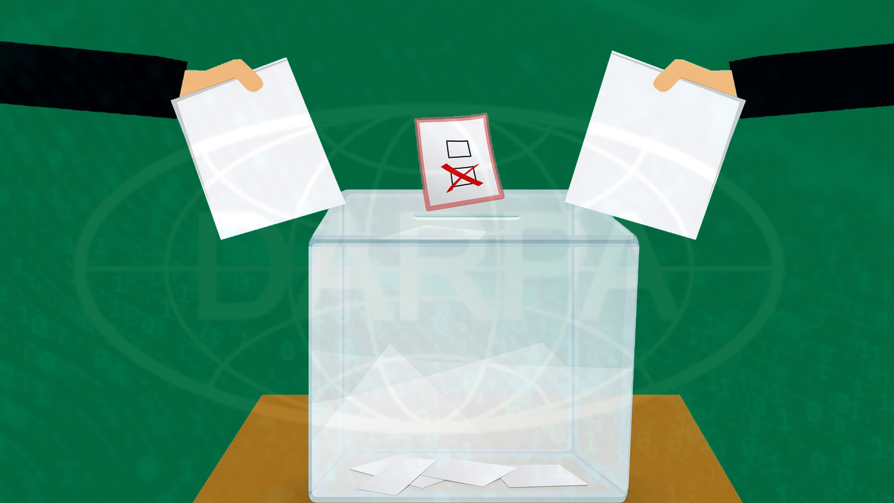 open source voting system DARPA