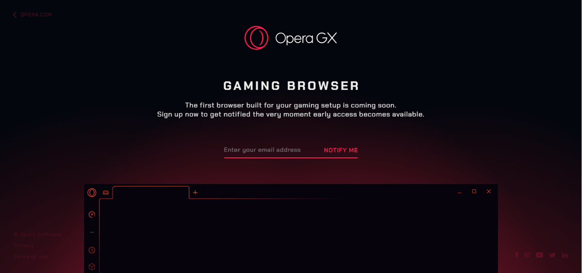 OperaGX Gaming Browser
