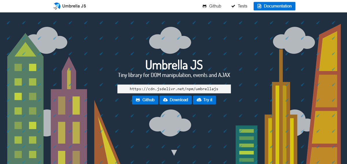 Umbrella JS JQuery Alternatives