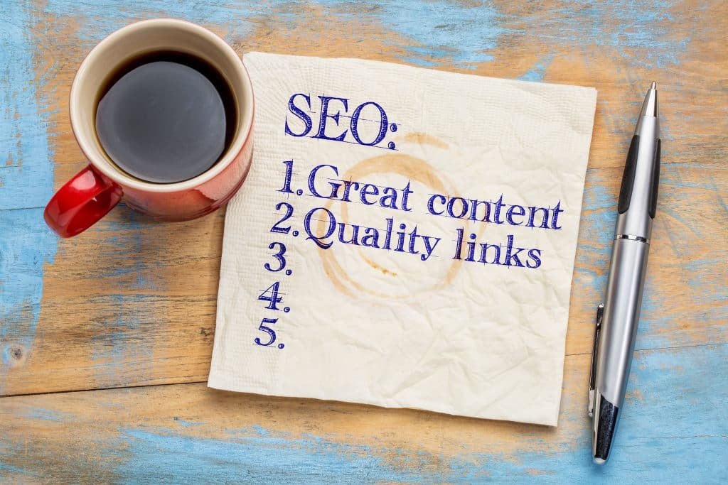 Great content and links SEO tips